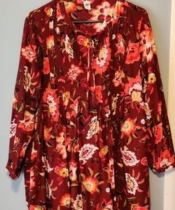 Old Navy Floral Tunic/Dress Sz L